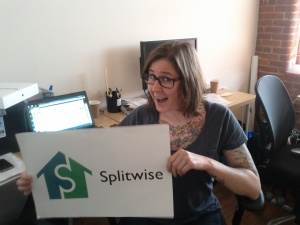 Nellie in the Splitwise office