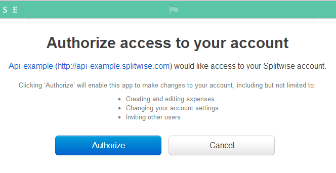 Setting up OAuth for the Splitwise API