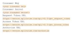 Your API keys