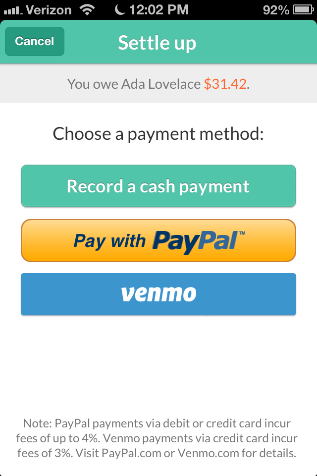 Introducing Settle Up With Splitwise And Venmo – The