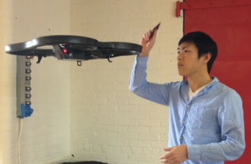 Drones are equipped with Square Readers