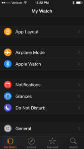 "Choose ""Glances"" from the Apple Watch App on your iPhone and then add Splitwise"